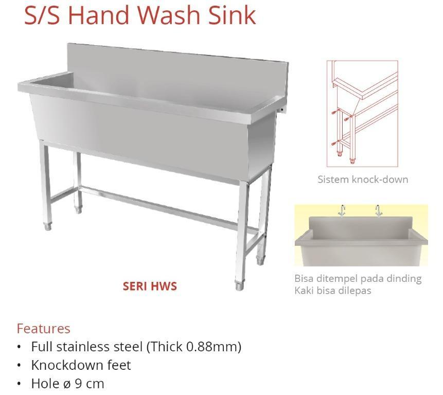 SS HAND WASH SINK ~ HWS~150