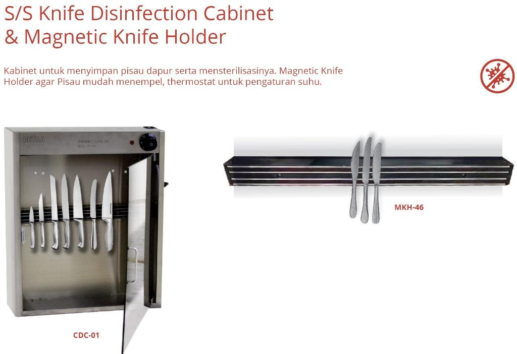 S/S KNIFE DISINFECTION CABINET & MAGNETIC KNIFE HOLDER (CDC-01)