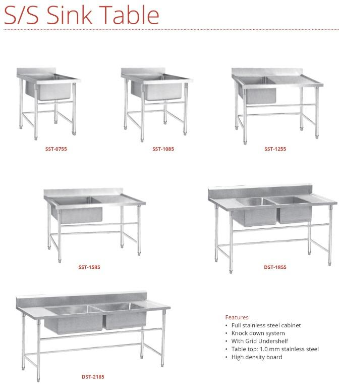 S/S SINK TABLE (SST-1085)