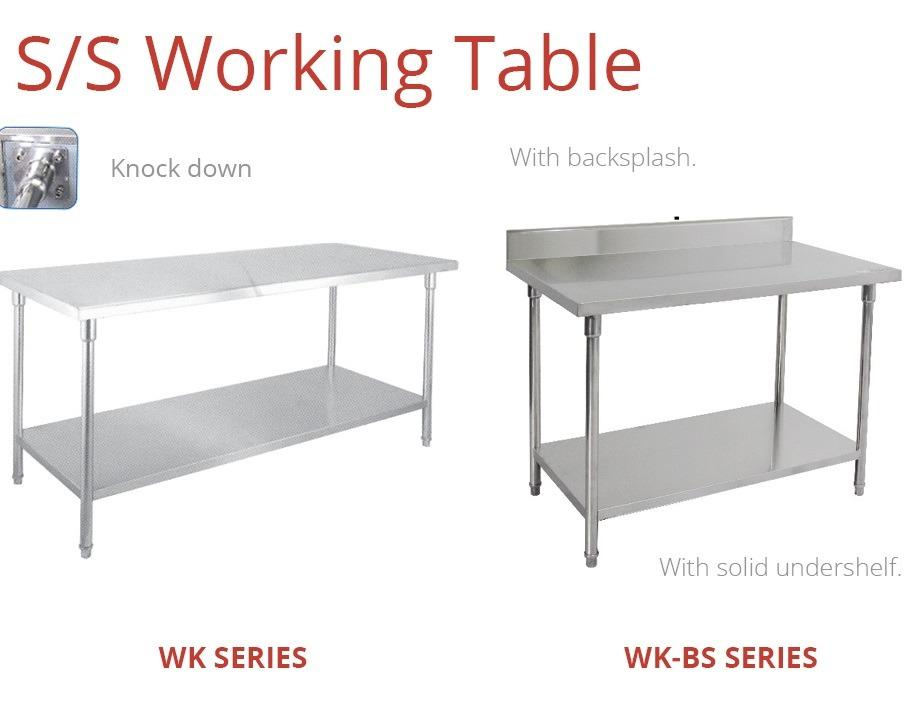 S/S WORKING TABLE--WK180BS