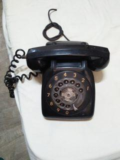 Vintage PLDT Black Rotary Phone