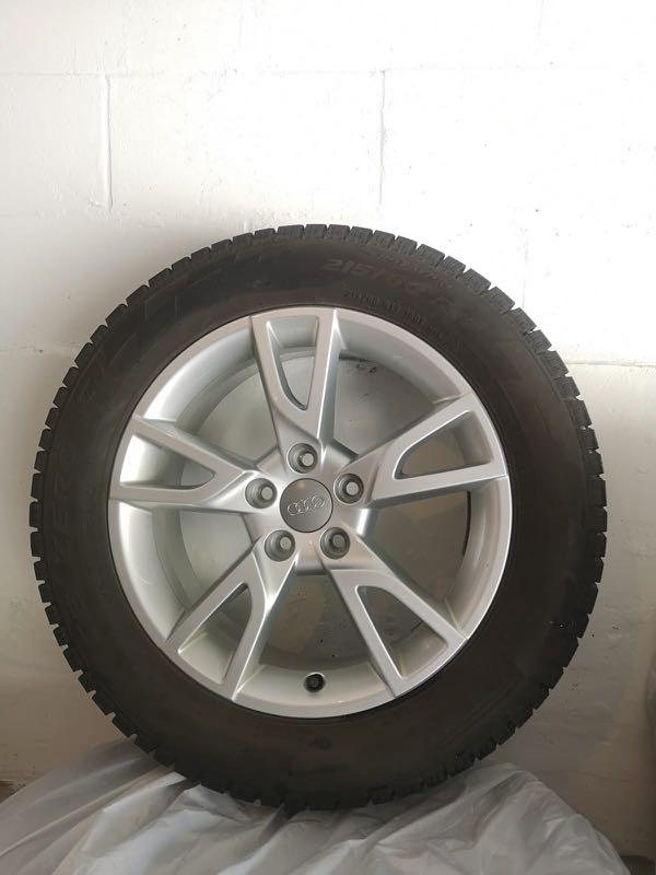 """used 17"""" Audi winter tire with alloy rim"""
