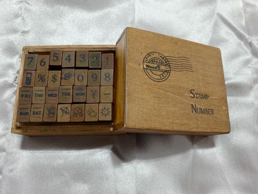 28個木頭小印章