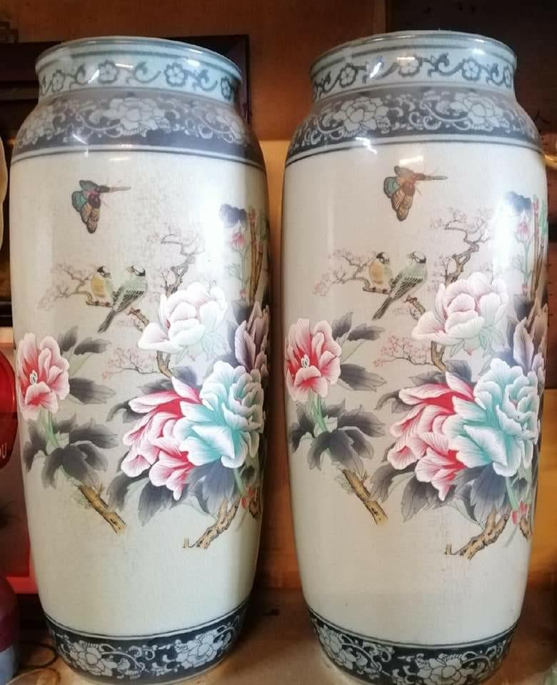 珍藏30年 石灣精品 裂釉青花瓶