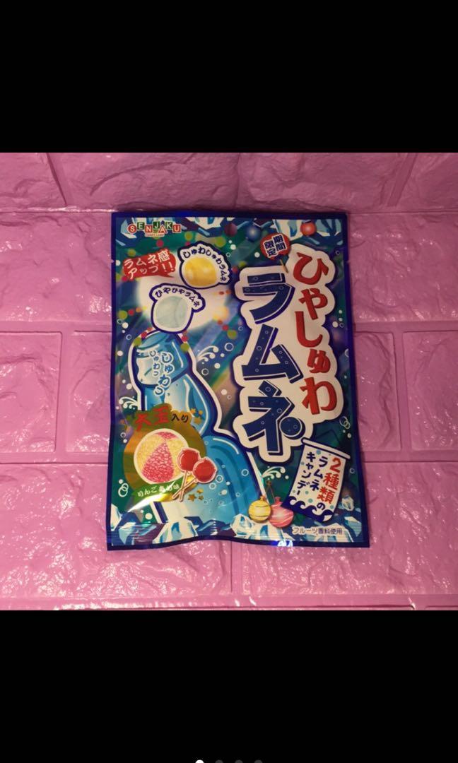 日本製扇雀飴三種類汽水口味糖