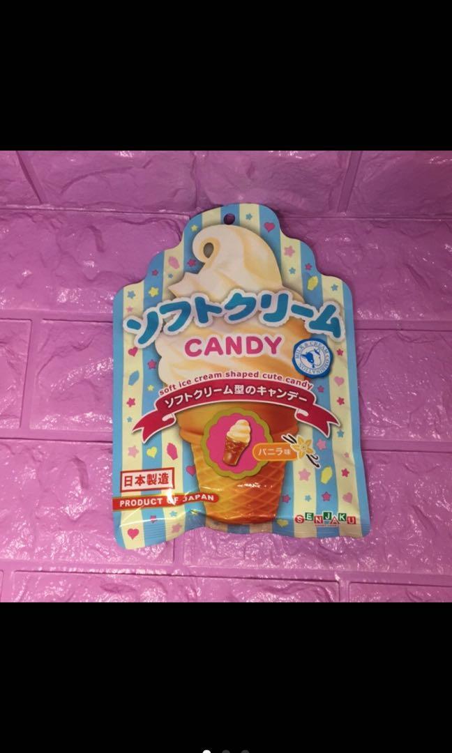 日本製扇雀飴香草味冰淇淋糖