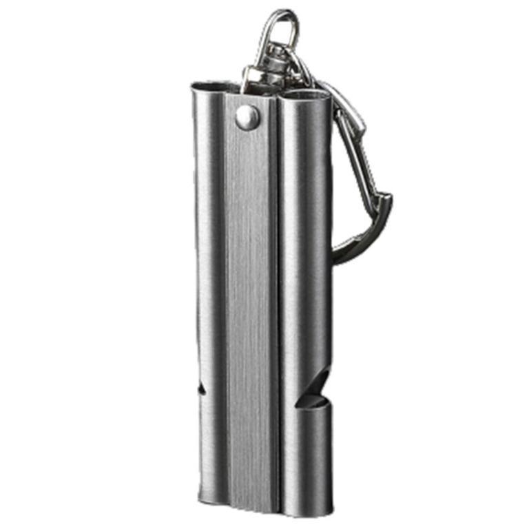 BAKMK Peluit Survival Double Pipe Whistle Stainless Steel - SW24 - Silver
