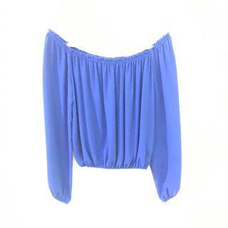 Blue Off Shoulder Dorothy Perkins