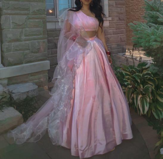 Blush pink lengha for sale size small