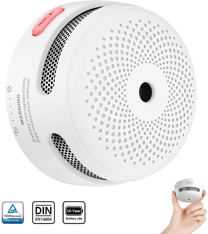 Bnib X Sense Mini Smoke Alarm 10 Year Battery Fire Alarm Smoke Detector With Led Indicator Silence Button Conforms To En14604 Standard Xs01 Electronics Others On Carousell