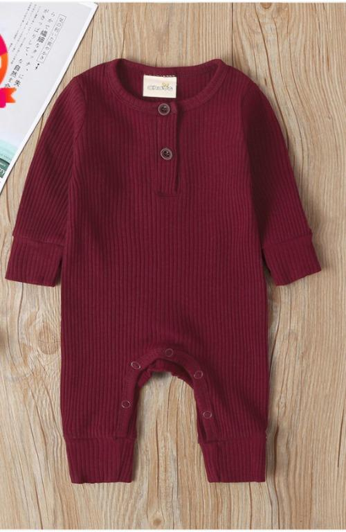 BNWT Baby Boy / Girl Burgundy Strappy Jumpsuit