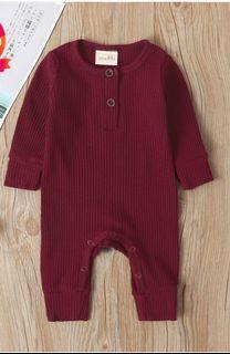 BNWT Baby Boy / Girl Burgundy Strappy Jumpsuit