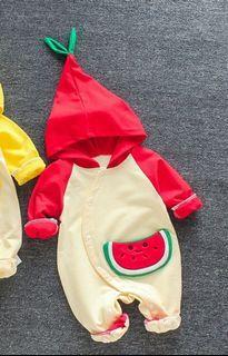 BNWT Baby Watermelon Applique Jumpsuit
