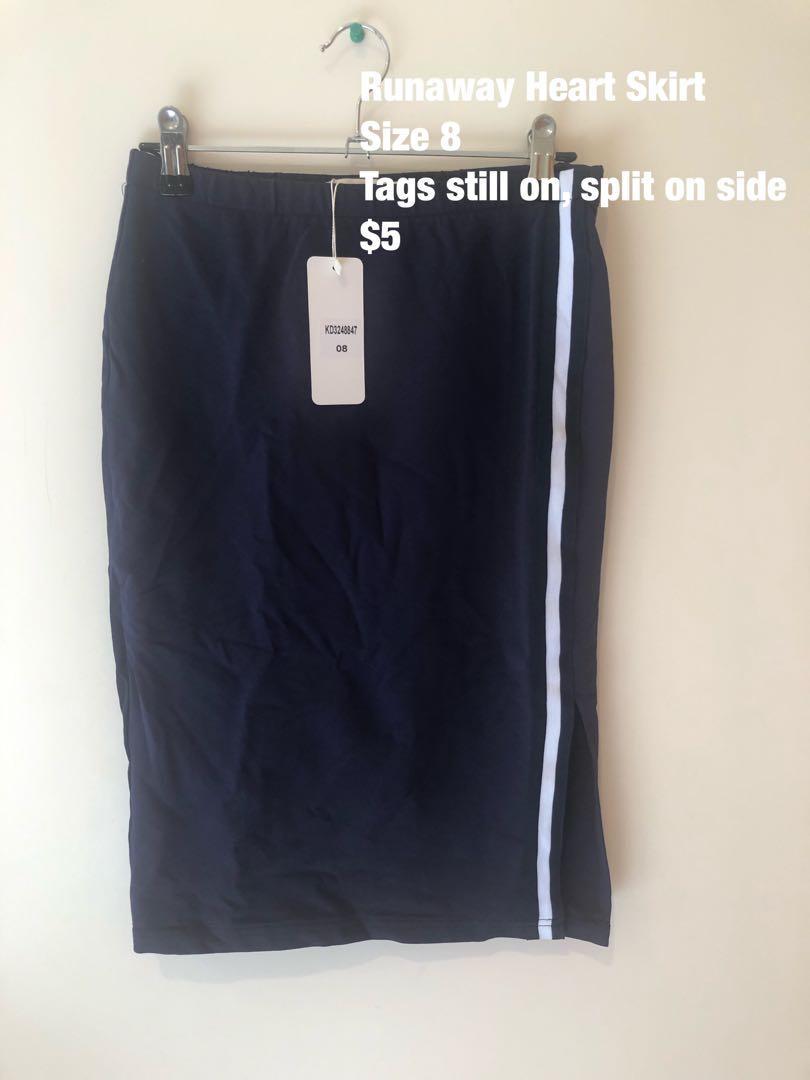 Bodycon Skirt W Slit