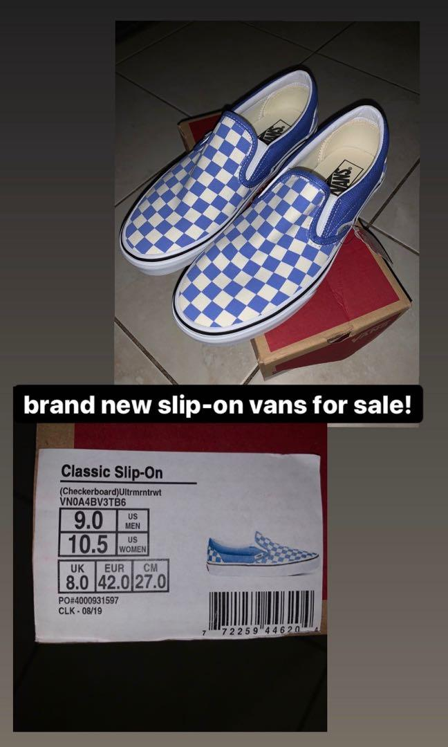 Checkered slip-on vans for sale!