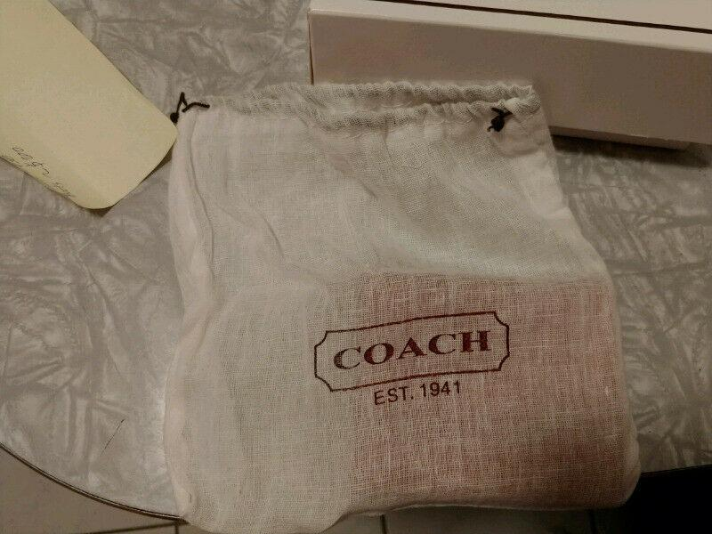 Coach Orange Leather Wallet