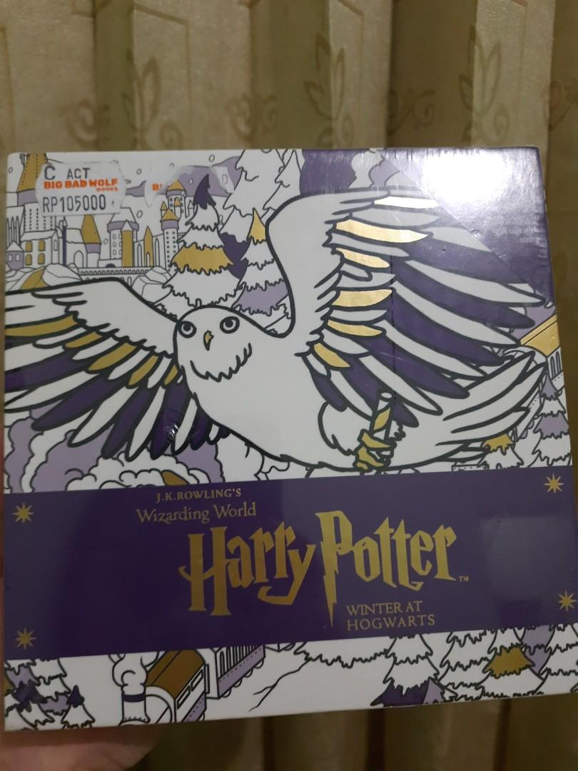 Coloring book HARRY POTTER WINTER AT HOGWARTS