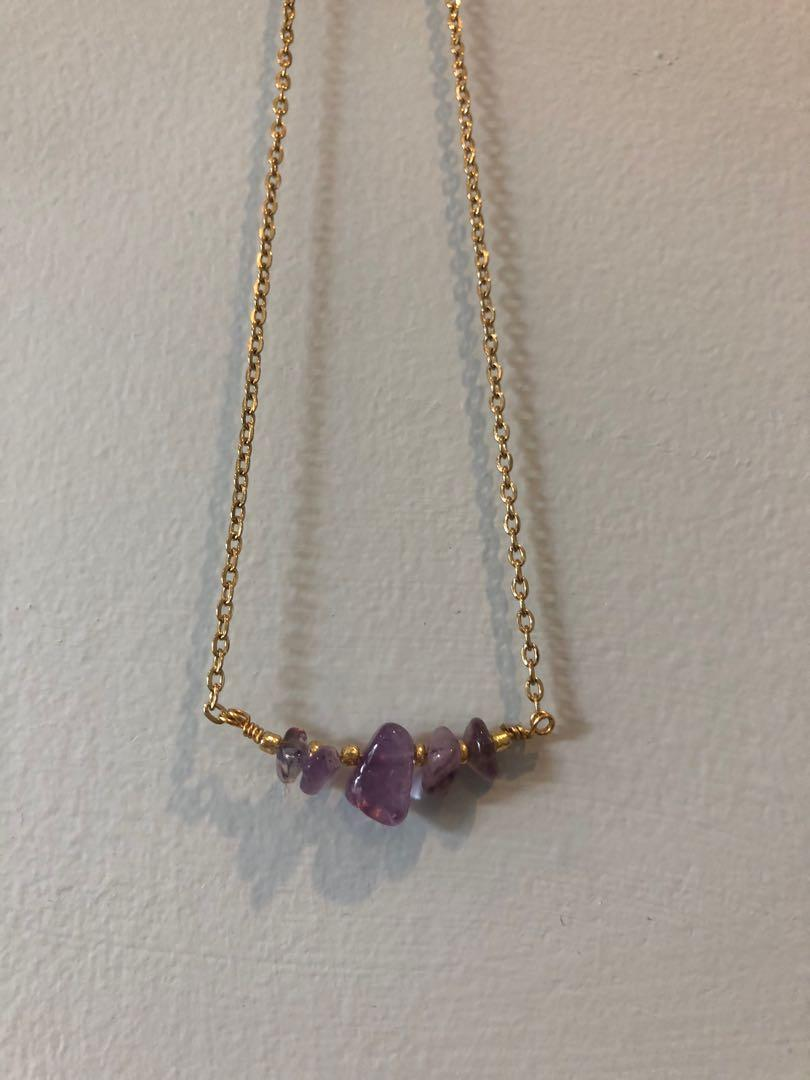 Crystal bead necklace