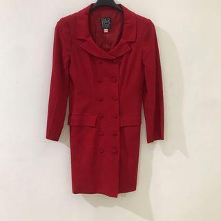 Cynthia Rowley Red Coat Dress