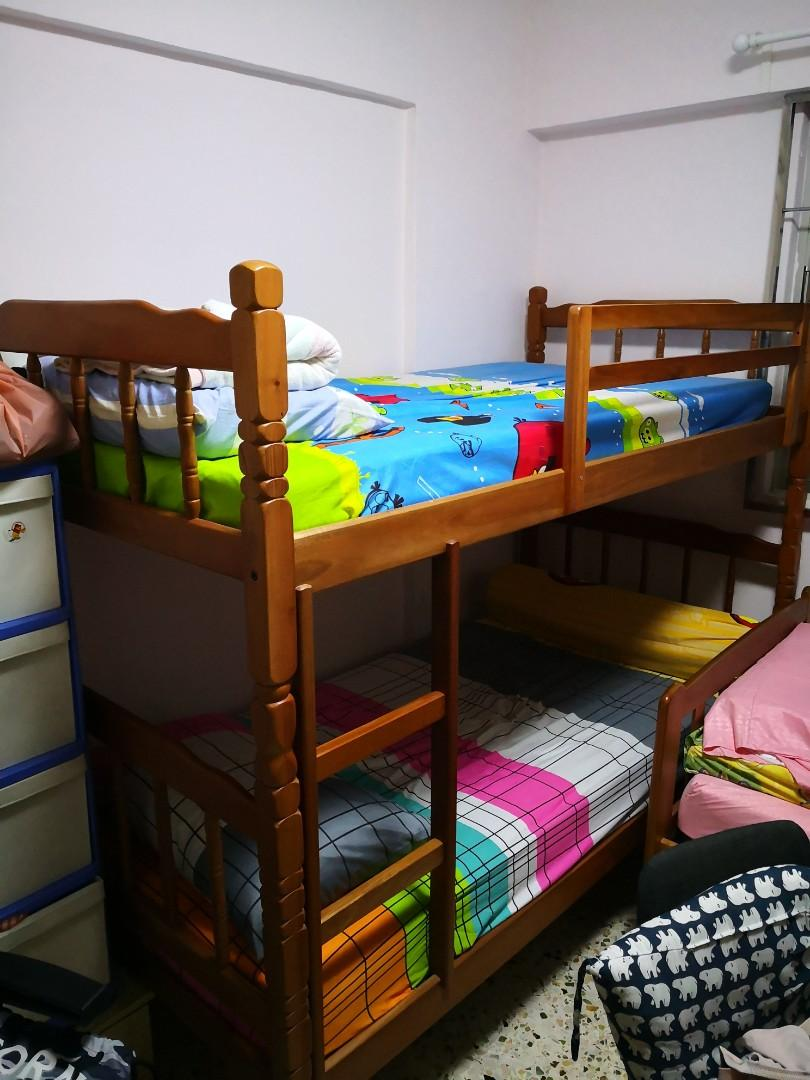 Picture of: Double Decker Bed For Sales Furniture Beds Mattresses On Carousell