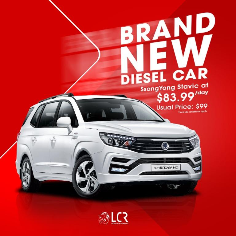 Driveaway a brand new diesel 7-seater MPV for GRAB or GoJek  with just $83.99/day (Usual Price $99/day) PHV Ready
