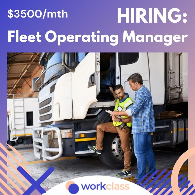 Fleet Operating Manager   $3500/month