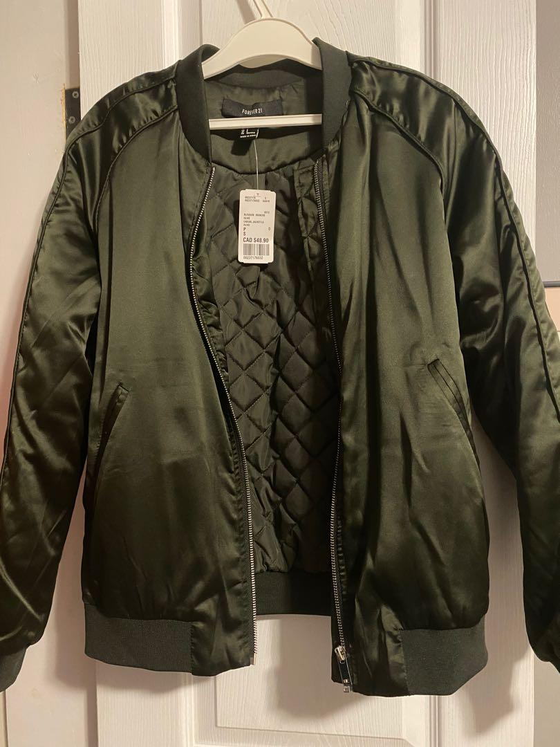 Forever 21 Bomber Jacket (size small) new with tags