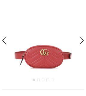 Gucci Marmont Belt Bag in Red Rouge