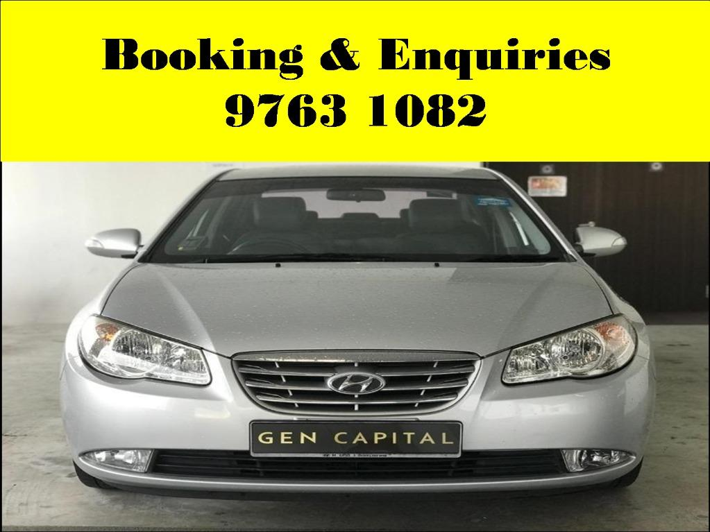 Hyundai Avante ! Mid week car for rent ! cheap ! budget ! Deposit @ $500 only ! Whatsapp 9763 1082 to reserve now !