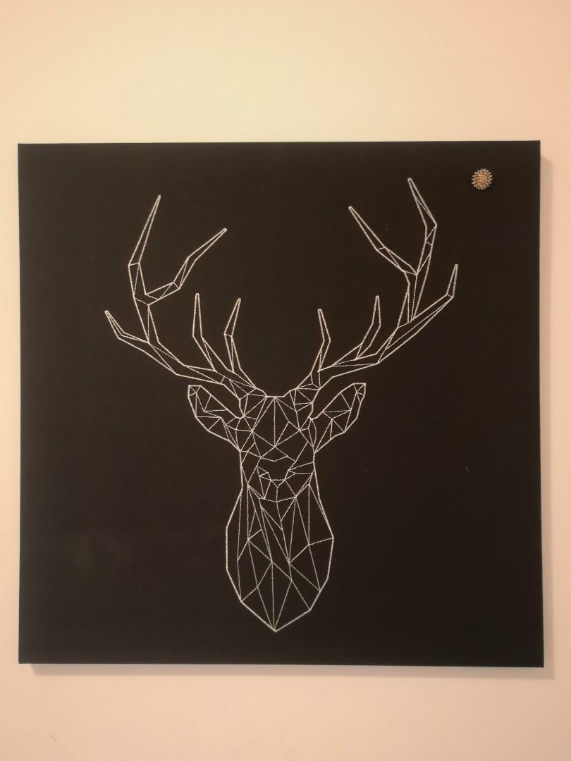 Ikea silver deer picture