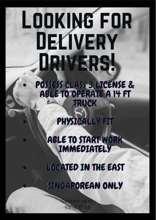 Looking for Delivery Driver