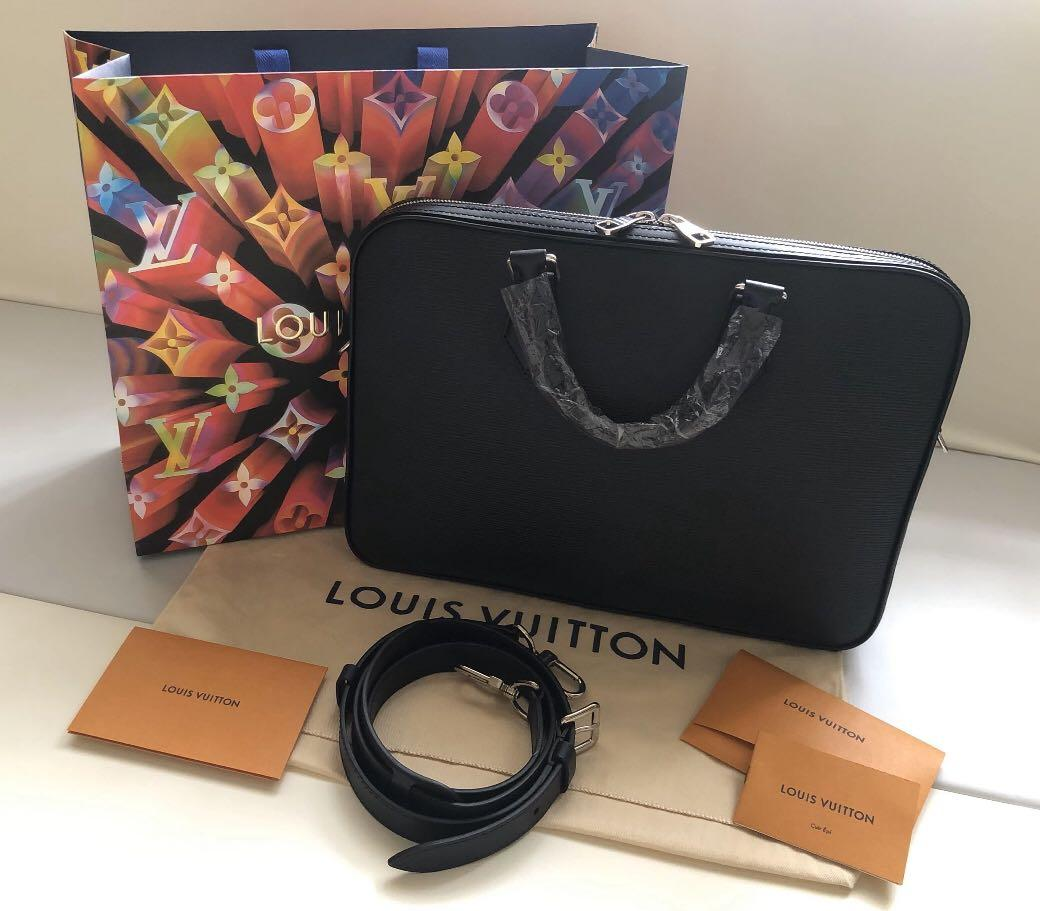 LV Dandy Epi Noir Briefcase