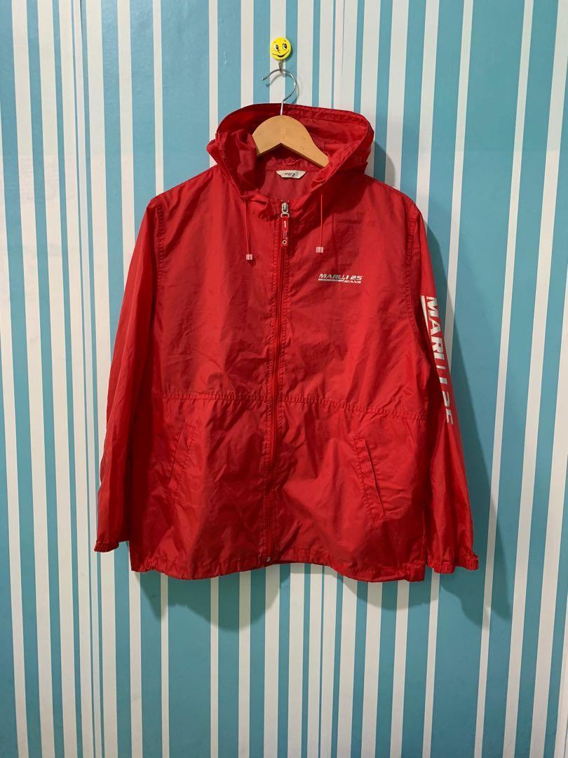 Marui Jaket training jaket Sepeda jaket running Second Thrift Preloved Bekas Merah