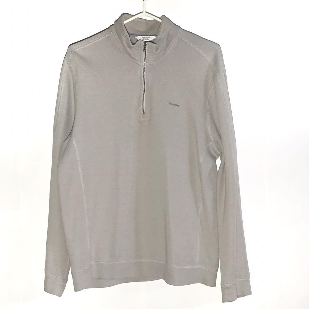 Men's Calvin Klein Gray Sweater Size L