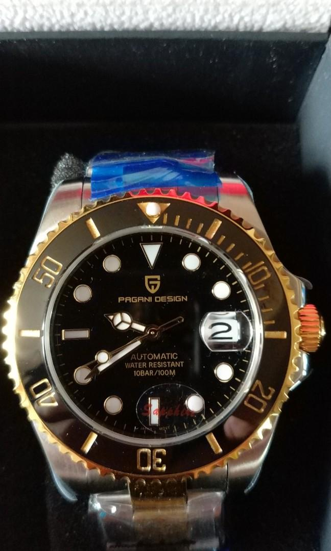 Pagani Design Submariner Two Tone Gold Luxury Watches On Carousell