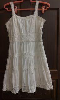 Pazzo白色蕾絲小洋裝M號