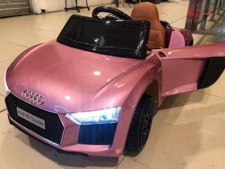Pink Audi R8 Spyder Rechargeable Ride On Car