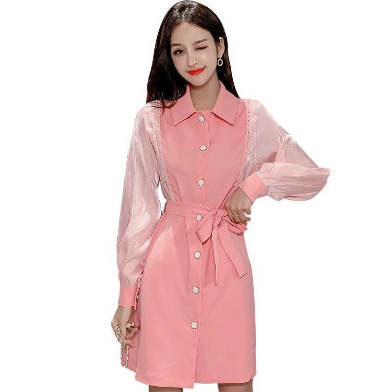 Pink dress size L
