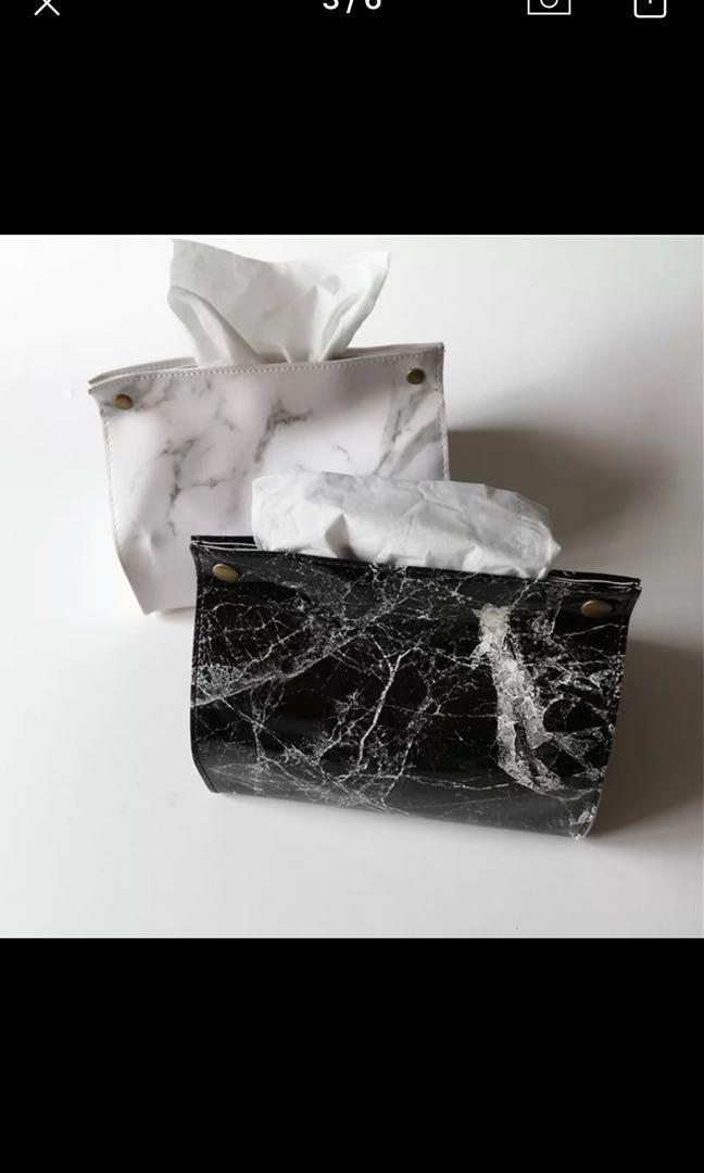 PORTABLE TISSUE BOX MARBLE (TISU BOX MOTIF MARBLE)
