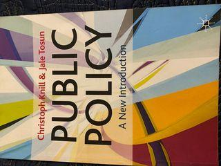 Public Policy- A new introduction by Christopher Knill & Jale Tosun