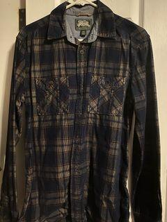 Roots plaid shirt (size small)