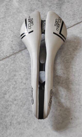 Saddle Sepeda San Marco Aspide Putih 131mm Carbon