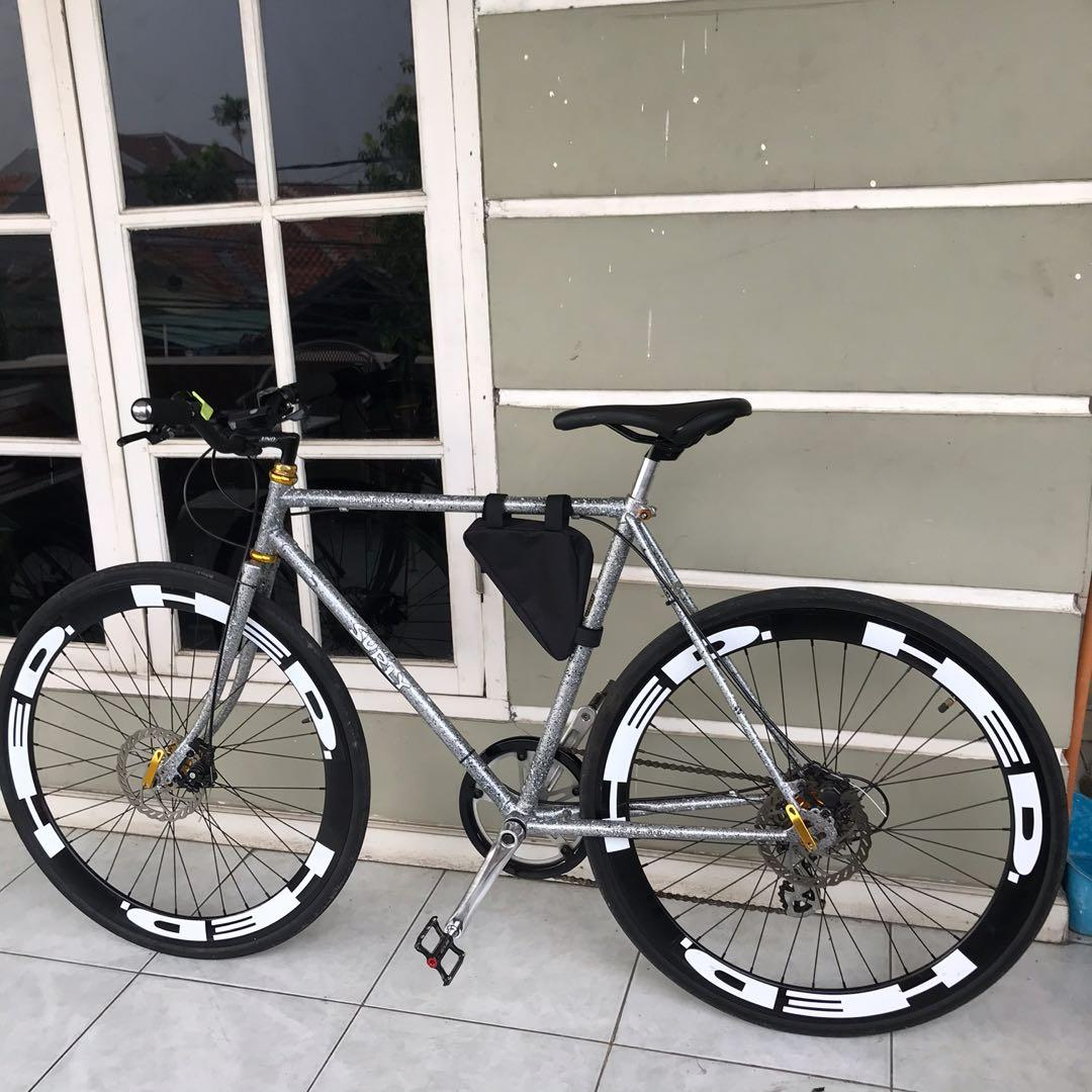 Sepeda balap / sepeda hybrid 9s full upgrade