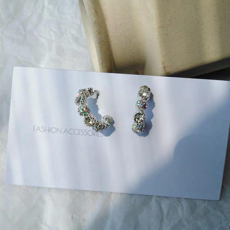 Silver sparkle earrings