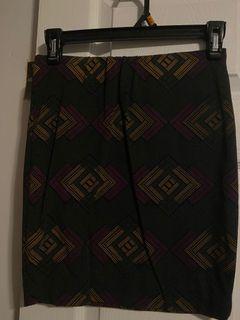 Simons (Twik) Patterned skirt (size x-small)
