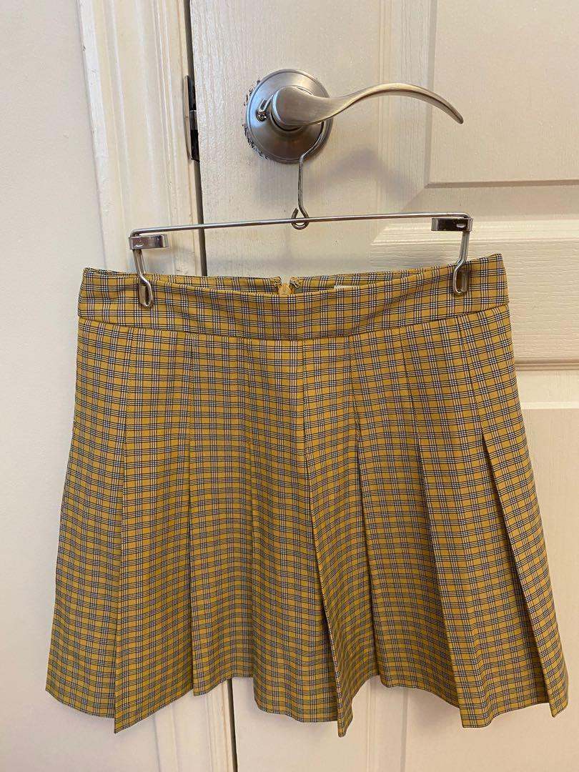 Sunday Best pleated A line skirt