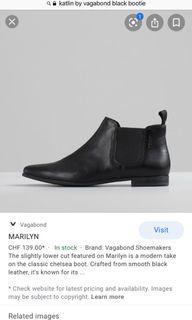 Vagabond black leather booties