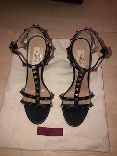 Valentino Rockstud 105mm Sandals Black