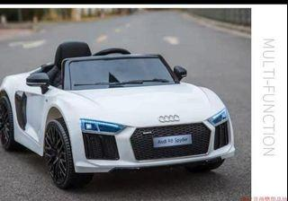 White Audi R8 Spyder Rechargeable Ride On Car