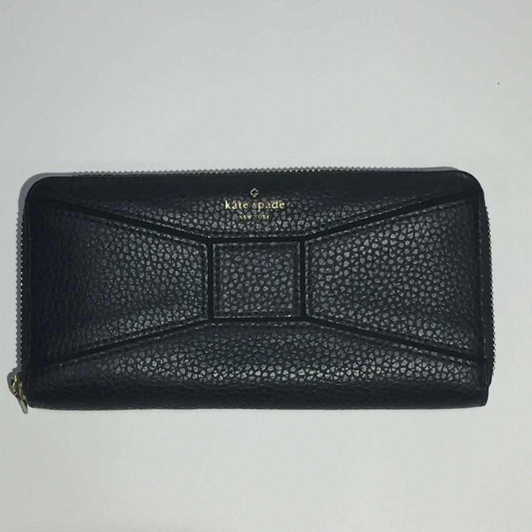Women's Kate Spade Black Pebbled Wallet Purse